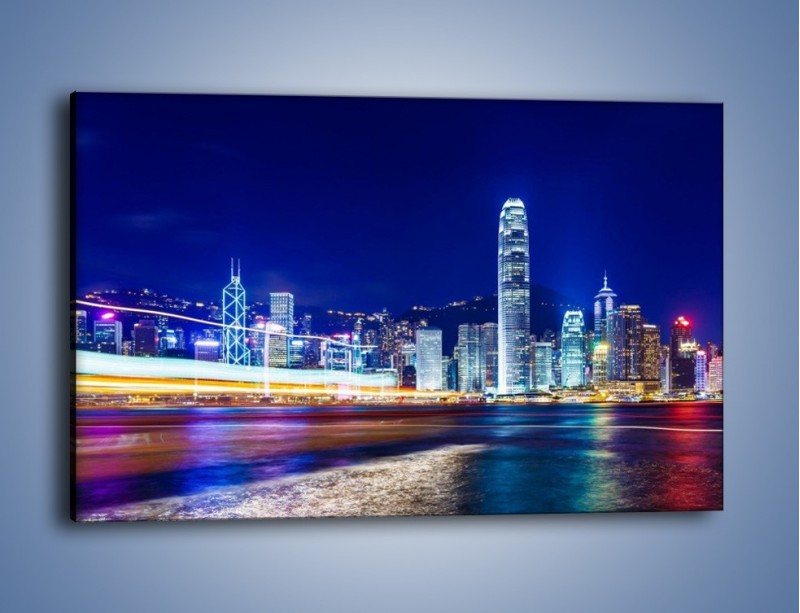 Obraz na płótnie – Panorama Hong Kongu – jednoczęściowy prostokątny poziomy AM499