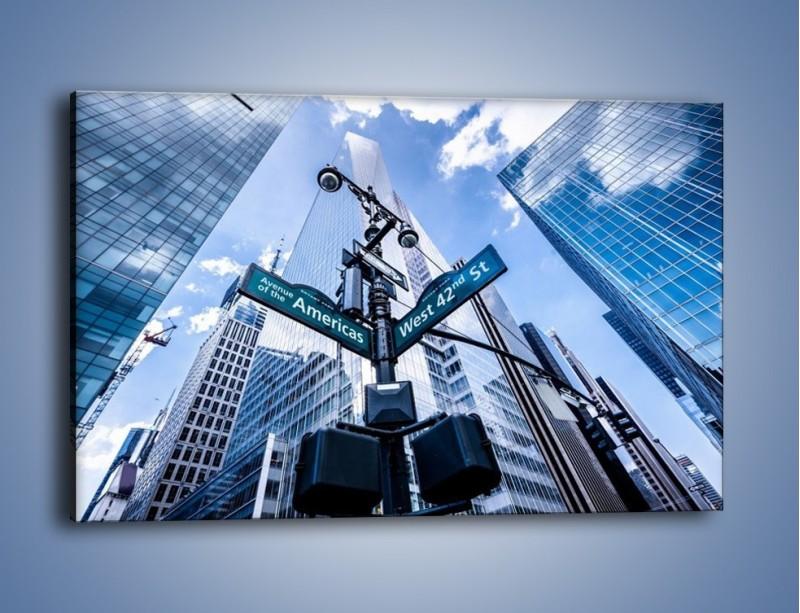 Obraz na płótnie – Skrzyżowanie ulic w Nowym Jorku – jednoczęściowy prostokątny poziomy AM501