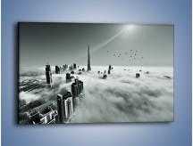 Obraz na płótnie – Centrum Dubaju we mgle – jednoczęściowy prostokątny poziomy AM502