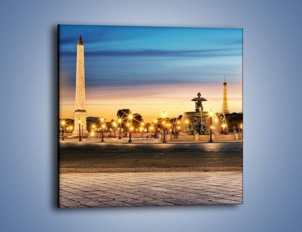 Obraz na płótnie – Place de la Concorde w Paryżu – jednoczęściowy kwadratowy AM404
