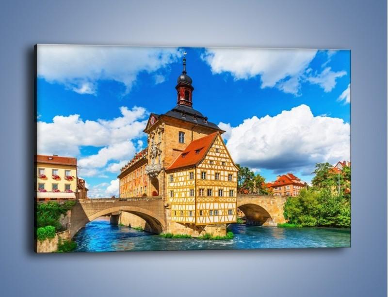 Obraz na płótnie – Ratusz w mieście Bamberg – jednoczęściowy prostokątny poziomy AM513