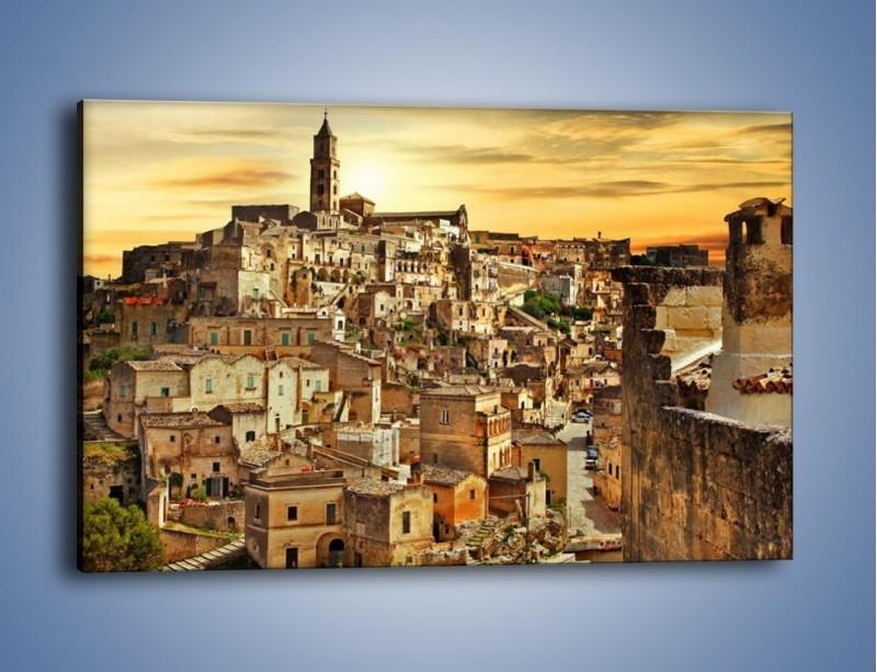 Obraz na płótnie – Matera – miasto wykute w skale – jednoczęściowy prostokątny poziomy AM517