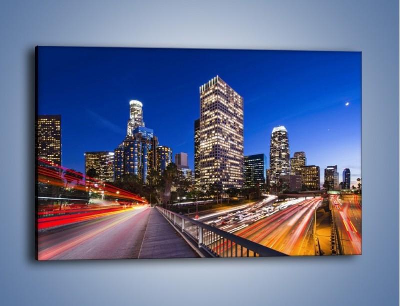Obraz na płótnie – Los Angeles w wieczornych światłach – jednoczęściowy prostokątny poziomy AM522
