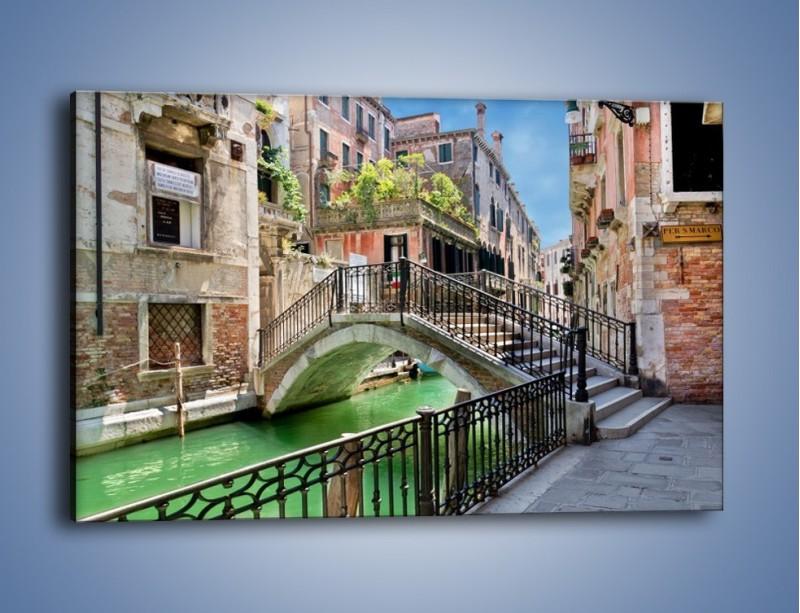 Obraz na płótnie – Wenecki most – jednoczęściowy prostokątny poziomy AM523