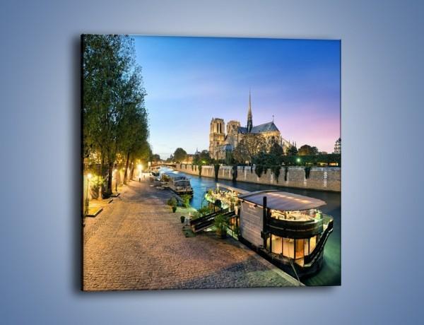 Obraz na płótnie – Katedra Notre Dame – jednoczęściowy kwadratowy AM405