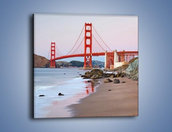 Obraz na płótnie – Most Golden Gate – jednoczęściowy kwadratowy AM406
