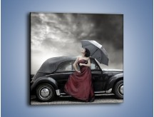 Obraz na płótnie – Dama pod parasolem – jednoczęściowy kwadratowy L139