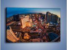 Obraz na płótnie – Centrum Las Vegas – jednoczęściowy prostokątny poziomy AM588