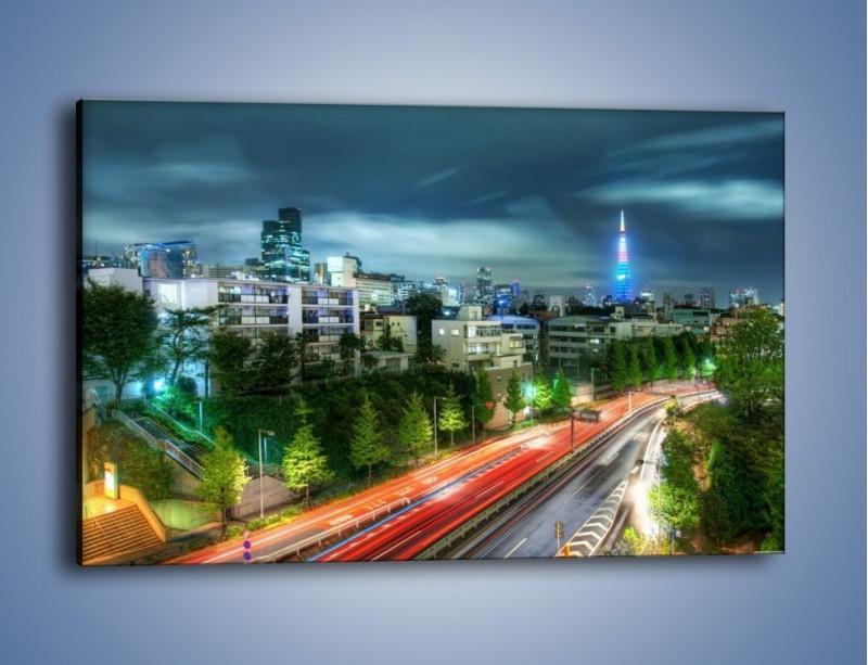 Obraz na płótnie – Miasto Roppongi w Japonii – jednoczęściowy prostokątny poziomy AM593