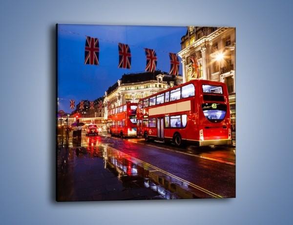 Obraz na płótnie – Londyn w deszczu – jednoczęściowy kwadratowy AM407