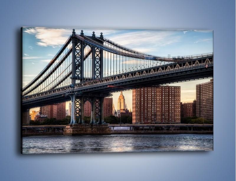 Obraz na płótnie – Manhattan Bridge – jednoczęściowy prostokątny poziomy AM607
