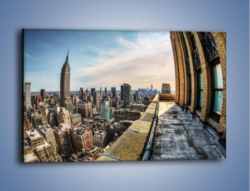 Obraz na płótnie – Empire State Building na Manhattanie – jednoczęściowy prostokątny poziomy AM610