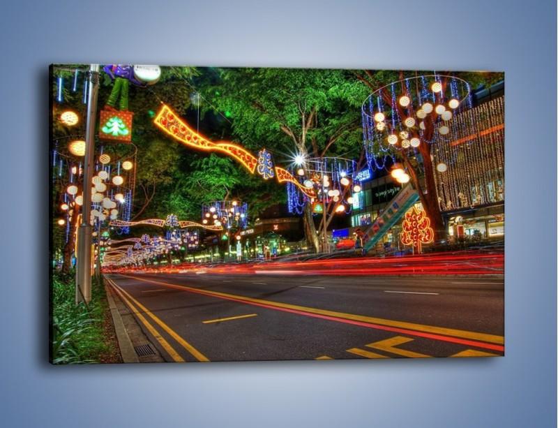 Obraz na płótnie – Noworoczne dekoracje w Singapurze – jednoczęściowy prostokątny poziomy AM616