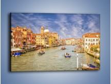 Obraz na płótnie – Canal Grande w Wenecji o poranku – jednoczęściowy prostokątny poziomy AM617