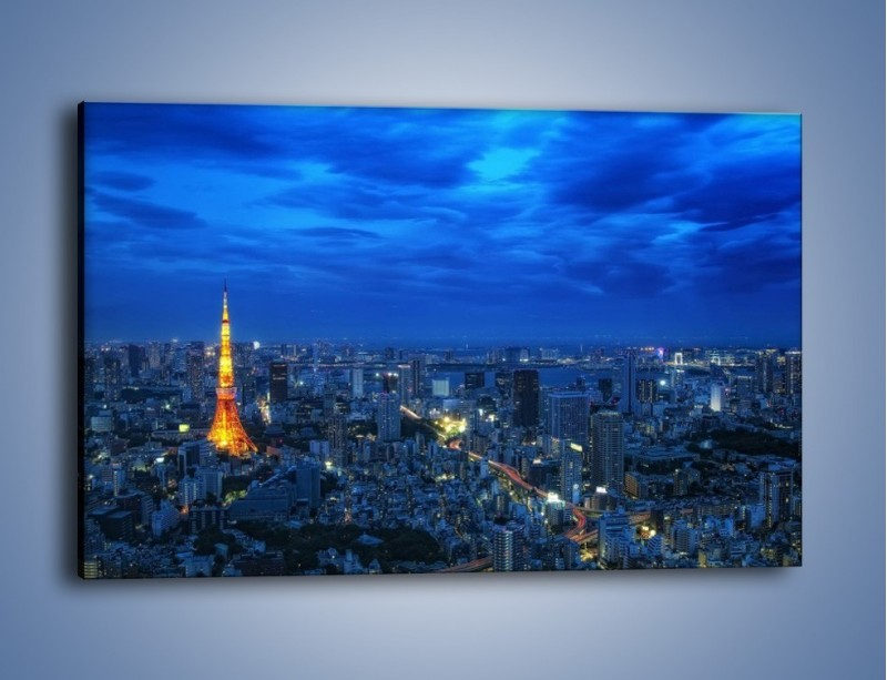 Obraz na płótnie – Tokyo Tower w Japonii – jednoczęściowy prostokątny poziomy AM621