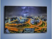 Obraz na płótnie – Burza nad Bangkokiem – jednoczęściowy prostokątny poziomy AM622