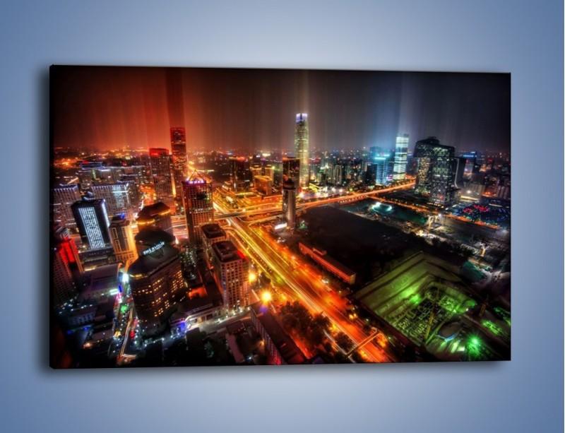 Obraz na płótnie – Niesamowite kolory Pekinu – jednoczęściowy prostokątny poziomy AM632