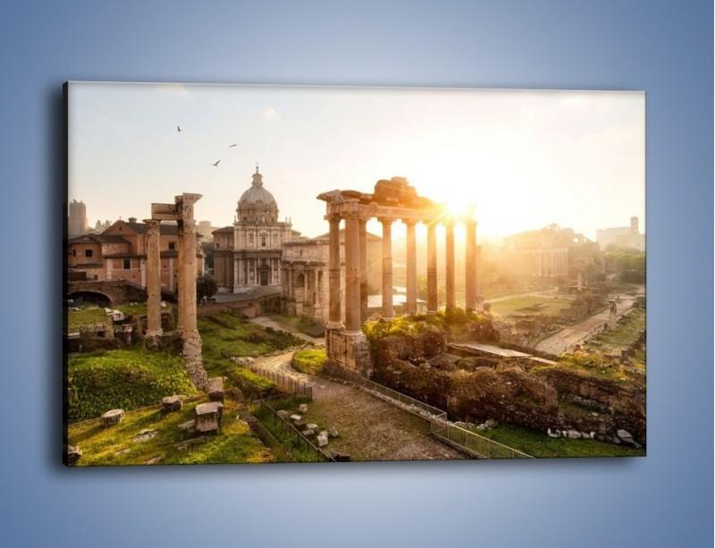 Obraz na płótnie – Starożytna architektura Rzymu – jednoczęściowy prostokątny poziomy AM638