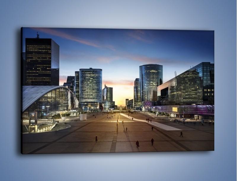 Obraz na płótnie – Quartier La Défense w Paryżu – jednoczęściowy prostokątny poziomy AM647