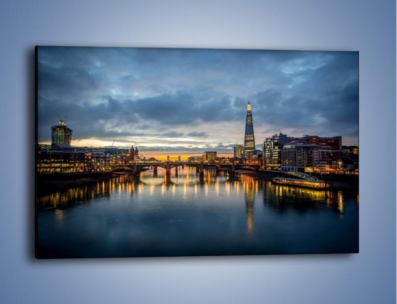 Obraz na płótnie – Millennium Bridge w Londynie – jednoczęściowy prostokątny poziomy AM651
