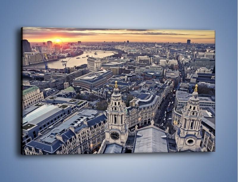Obraz na płótnie – Widok na Londyn z Katedry św. Pawła – jednoczęściowy prostokątny poziomy AM652