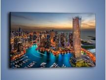Obraz na płótnie – Centrum Dubaju wieczorową porą – jednoczęściowy prostokątny poziomy AM656