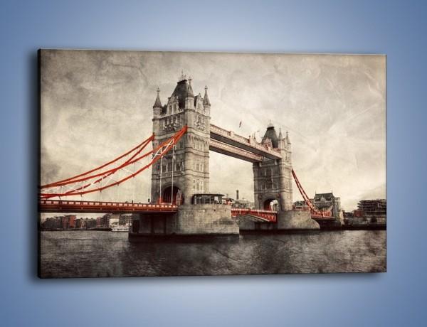 Obraz na płótnie – Tower Bridge w stylu vintage – jednoczęściowy prostokątny poziomy AM668
