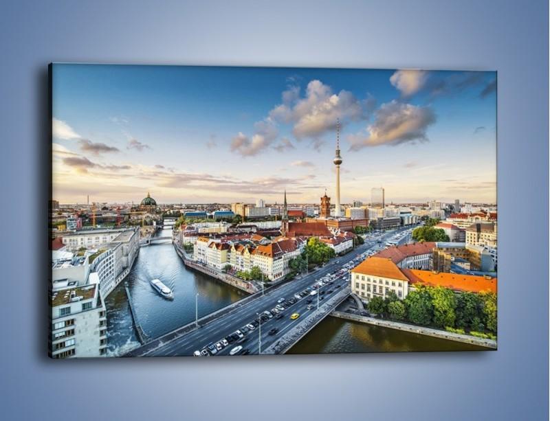 Obraz na płótnie – Panorama Berlina – jednoczęściowy prostokątny poziomy AM673