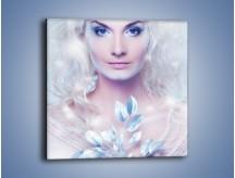 Obraz na płótnie – Biało-śnieżna dama – jednoczęściowy kwadratowy L189
