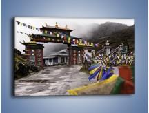 Obraz na płótnie – Brama do miasta Tawang w Tybecie – jednoczęściowy prostokątny poziomy AM689
