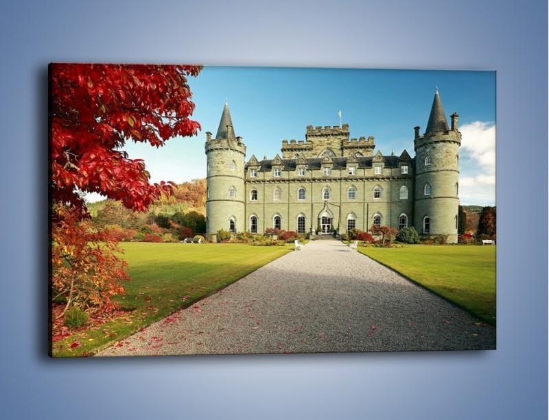 Obraz na płótnie – Zamek Inveraray w Szkocji – jednoczęściowy prostokątny poziomy AM691