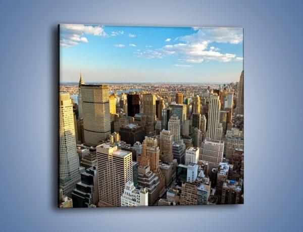 Obraz na płótnie – Manhattan w Nowym Yorku – jednoczęściowy kwadratowy AM412