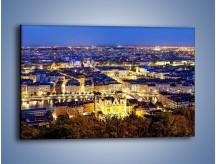 Obraz na płótnie – Nocna panorama Lyonu – jednoczęściowy prostokątny poziomy AM707