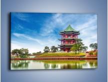Obraz na płótnie – Chiński ogród w Singapurze – jednoczęściowy prostokątny poziomy AM715