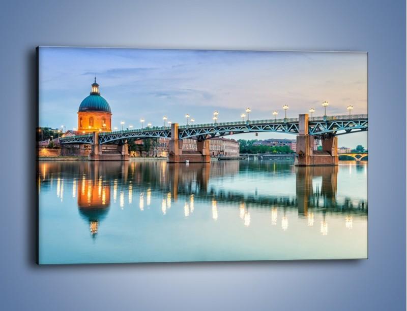 Obraz na płótnie – Most Saint-Pierre w Tuluzie – jednoczęściowy prostokątny poziomy AM721