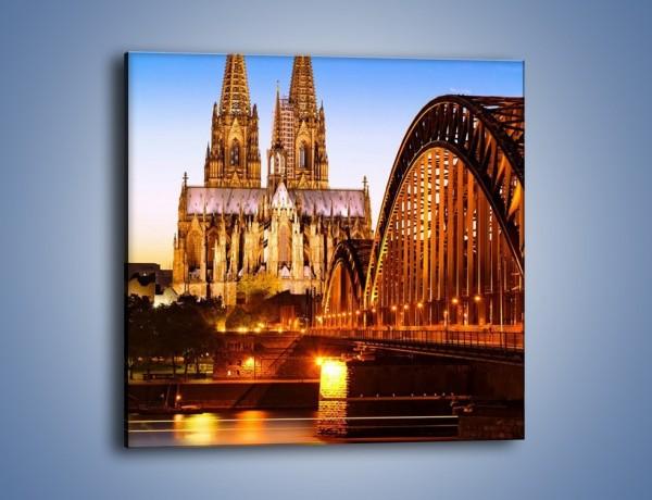 Obraz na płótnie – Katedra św. Piotra i NMP w Kolonii – jednoczęściowy kwadratowy AM413