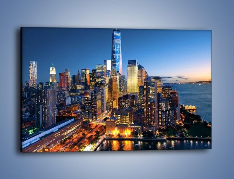 Obraz na płótnie – Zmierzch nad Manhattanem – jednoczęściowy prostokątny poziomy AM749
