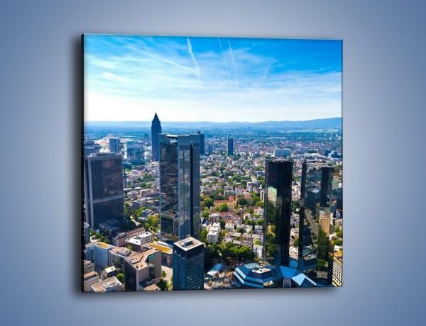 Obraz na płótnie – Panorama Frankfurtu – jednoczęściowy kwadratowy AM414