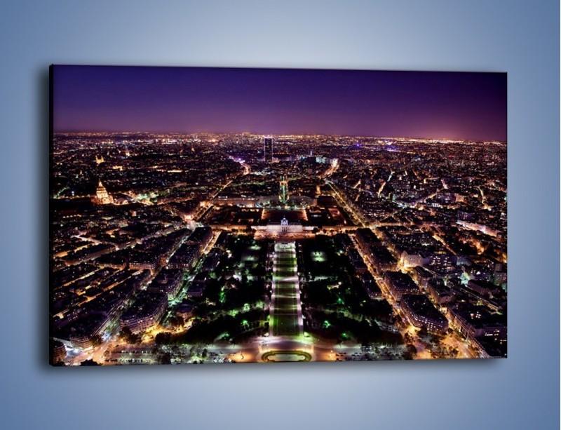 Obraz na płótnie – Panorama Paryża z Wieży Eiffla – jednoczęściowy prostokątny poziomy AM764