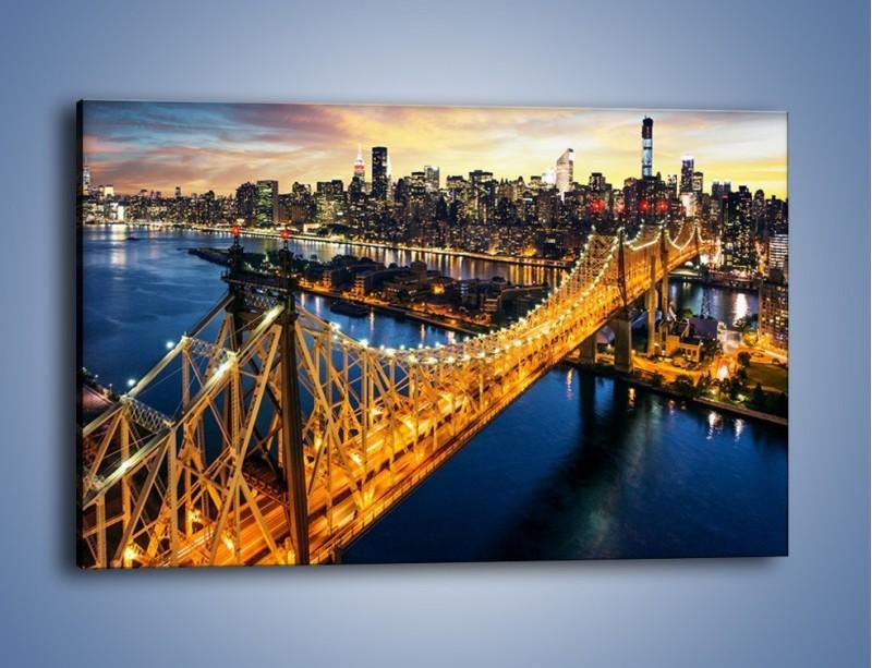 Obraz na płótnie – Queensboro Bridge w Nowym Yorku – jednoczęściowy prostokątny poziomy AM768