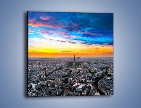 Obraz na płótnie – Panorama Paryża – jednoczęściowy kwadratowy AM415