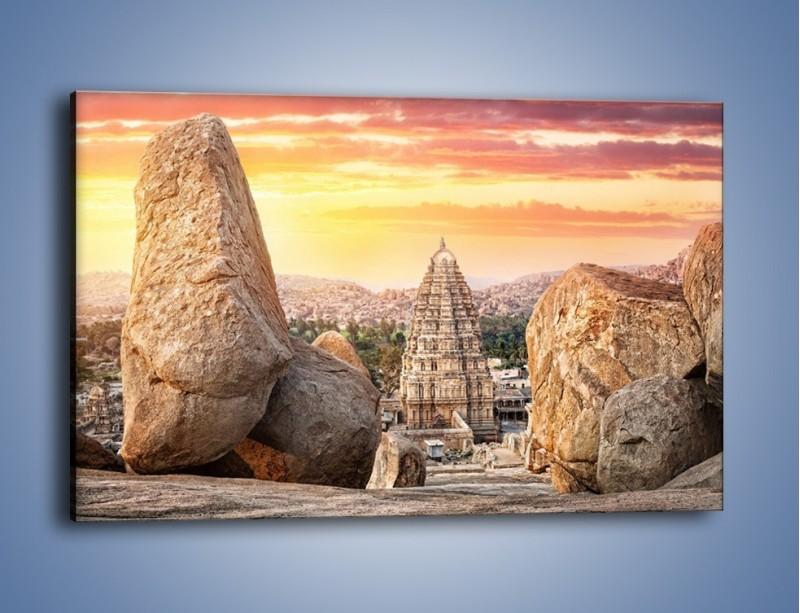 Obraz na płótnie – Świątynia Virupaksha w Indiach – jednoczęściowy prostokątny poziomy AM787