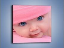 Obraz na płótnie – Bobas w różowej czapeczce – jednoczęściowy kwadratowy L256