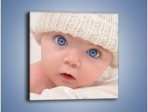 Obraz na płótnie – Błękitne oczy dzidziusia – jednoczęściowy kwadratowy L260