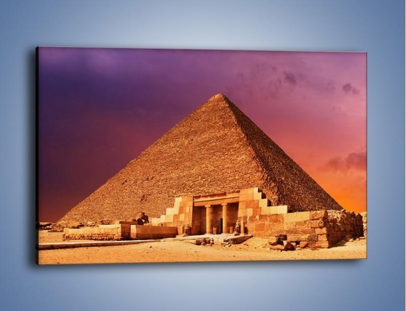 Obraz na płótnie – Piramida w Egipcie – jednoczęściowy prostokątny poziomy AM812