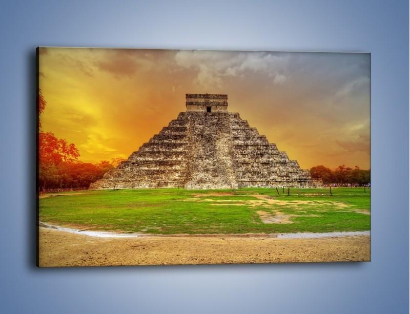 Obraz na płótnie – Piramida Kukulkana w Meksyku – jednoczęściowy prostokątny poziomy AM814