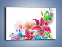 Obraz na płótnie – Kwiaty jak z bajki – jednoczęściowy prostokątny poziomy GR042