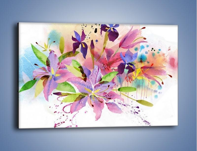 Obraz na płótnie – Kolory zachowane w kwiatach – jednoczęściowy prostokątny poziomy GR043