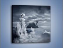 Obraz na płótnie – Dama w sepii – jednoczęściowy kwadratowy L292