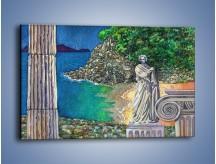 Obraz na płótnie – Marmurowe rzeźby z widokiem na wodę – jednoczęściowy prostokątny poziomy GR048